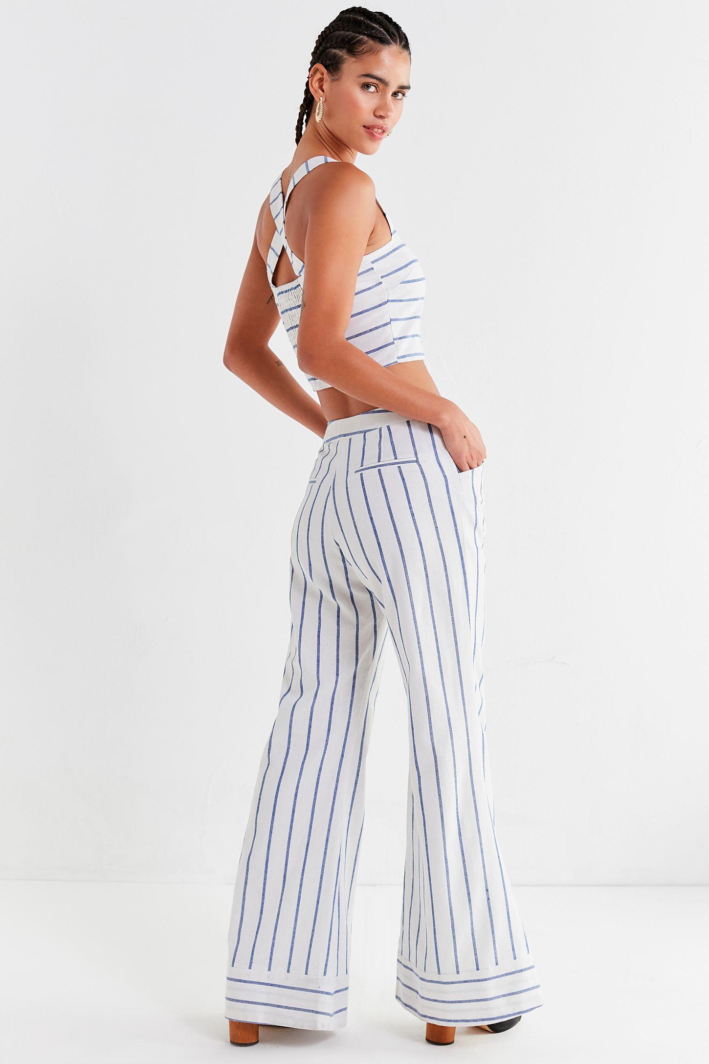 88f8c0e15e8e55 Lucca Couture Isla Striped Flare Pant