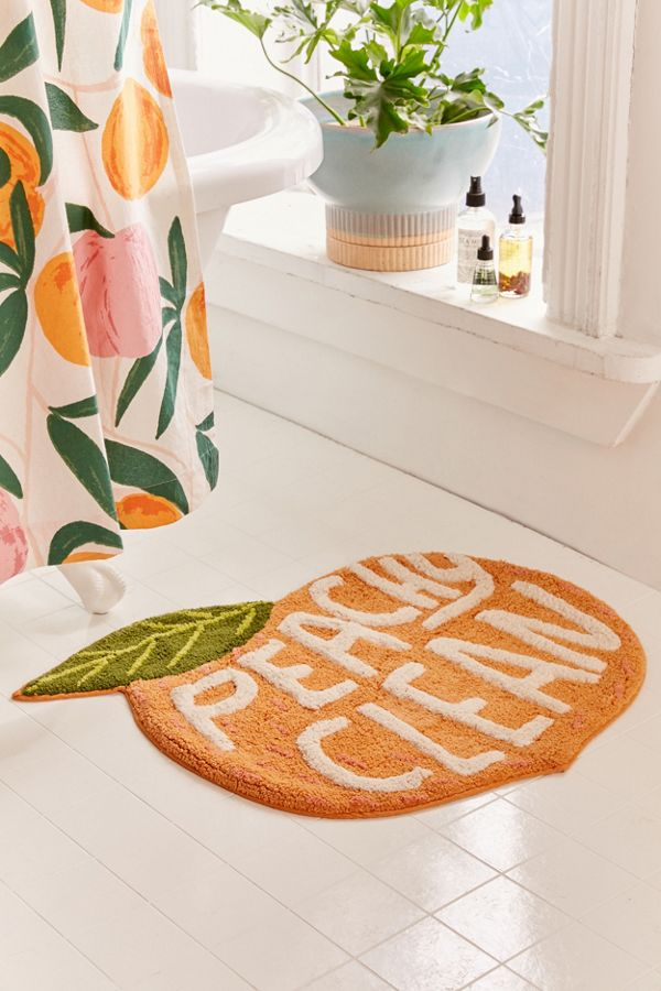 Slide View: 1: Peachy Clean Bath Mat