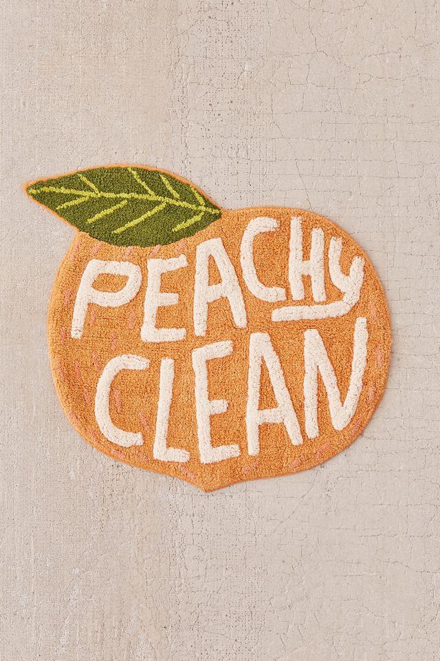 Peachy Clean Bath Mat Urban Outfitters, Peach Bathroom Rugs