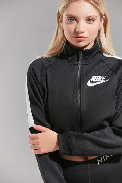 nike cropped track jacket