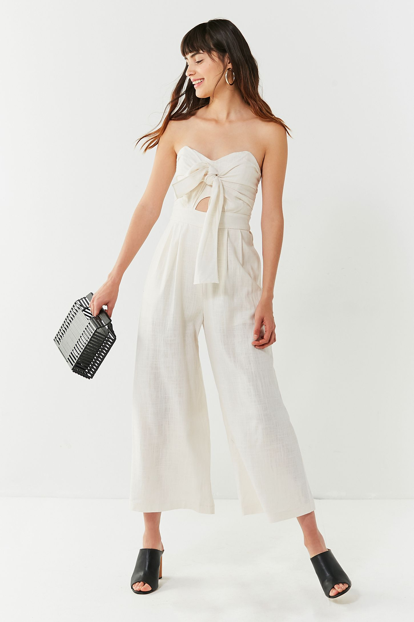 1196b05ef353 ASTR The Label Mara Tie-Front Linen Jumpsuit