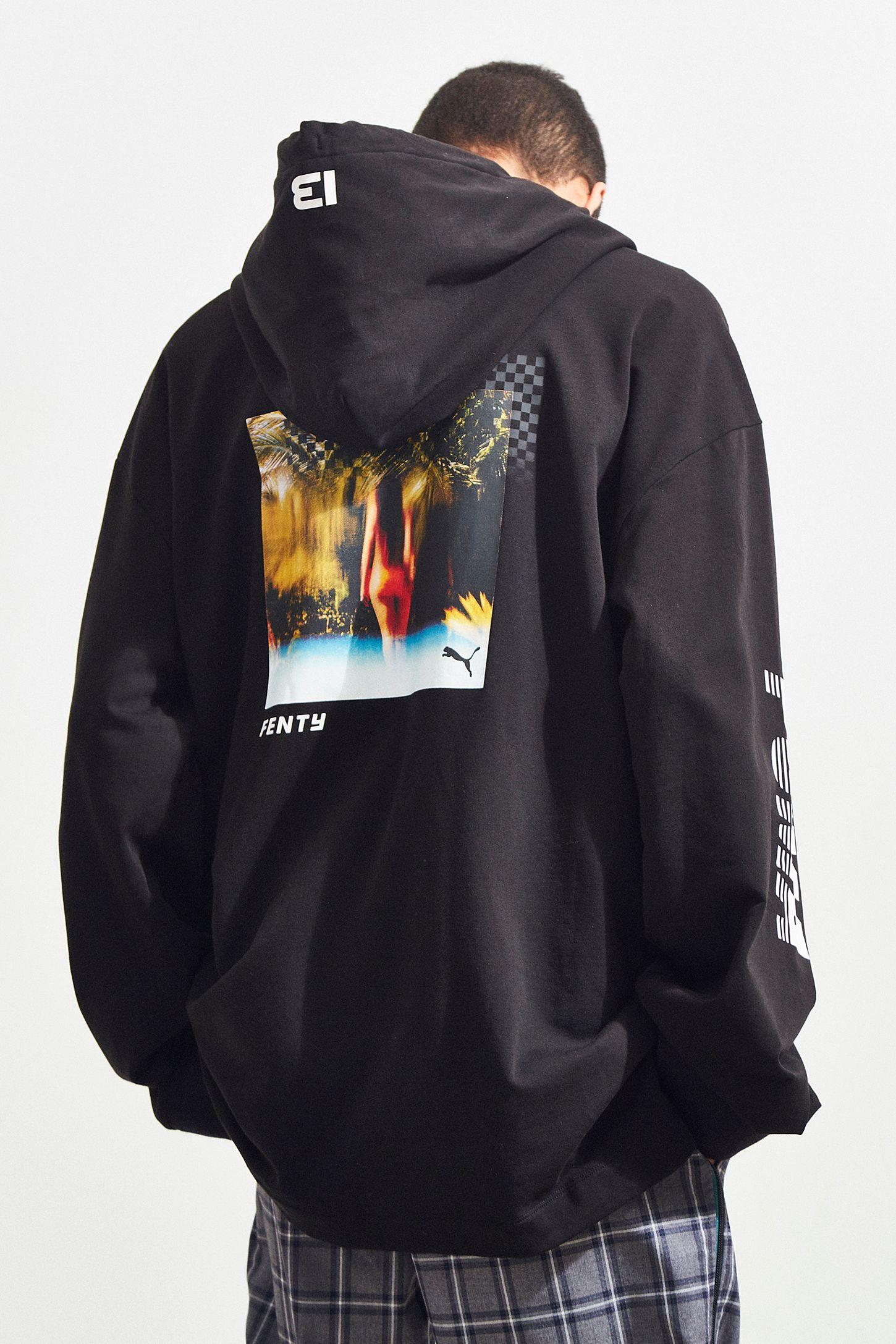 c93d256b3d18 Puma Fenty By Rihanna Graphic Hoodie Sweatshirt
