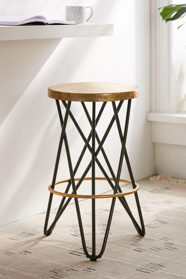Pleasing Lorna Gold Counter Stool Inzonedesignstudio Interior Chair Design Inzonedesignstudiocom