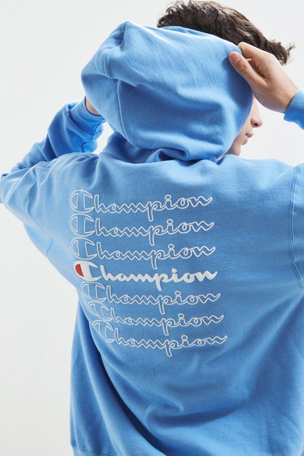 cea0da345 Champion Stacked Eco Hoodie Sweatshirt | Urban Outfitters