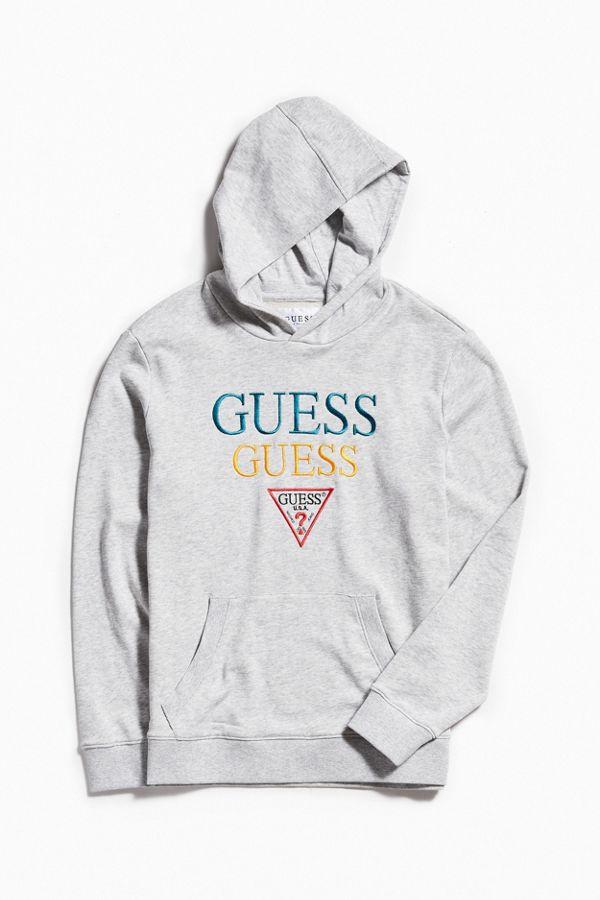 32e5e129b096 GUESS Embroidered Hoodie Sweatshirt