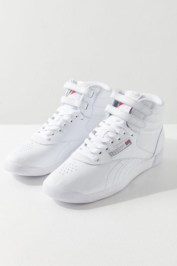 | Reebok Women's Freestyle Hi Lace Up Sneaker