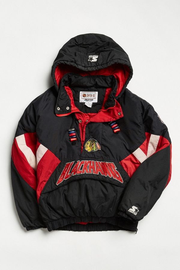 info for 8f6b8 7afbc Vintage Starter Chicago Blackhawks Anorak Jacket