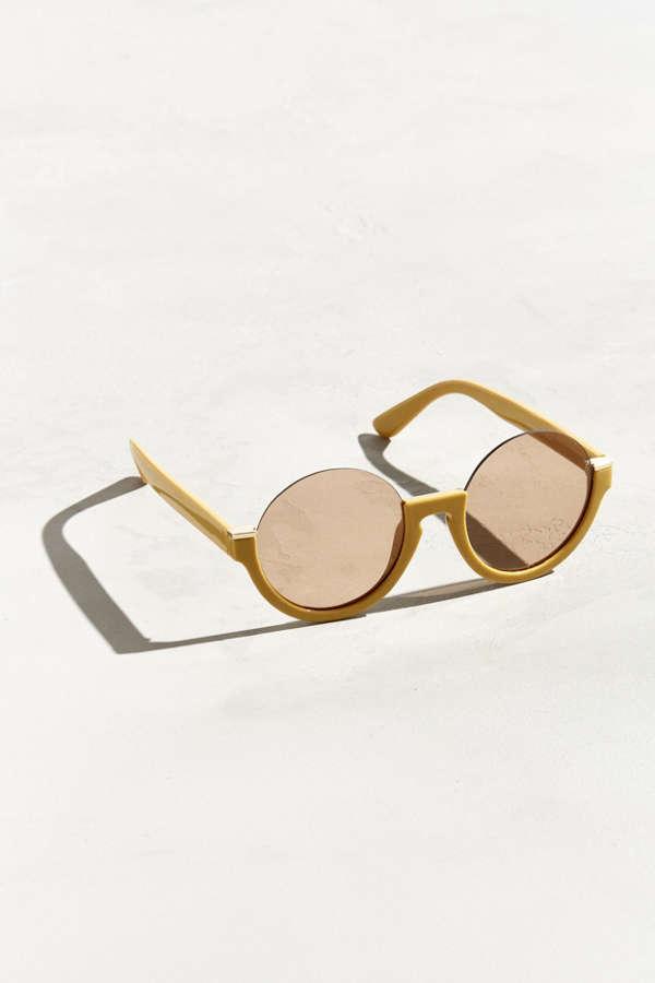 c068f3b6baa5a Plastic Low Half-Frame Round Sunglasses