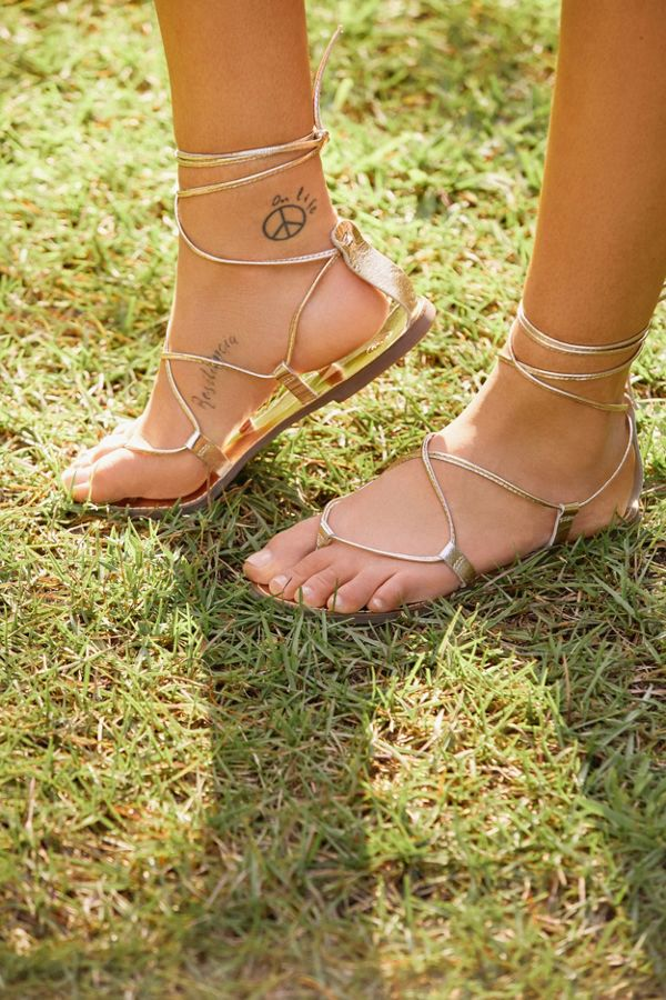 2a377cfd0d7c Leather Lace-Up Gladiator Sandal