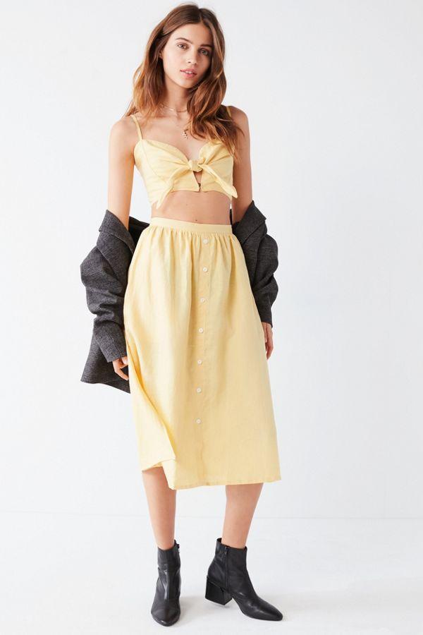 d29115e591 Faithfull The Brand Seine Button-Down Skirt | Urban Outfitters Canada