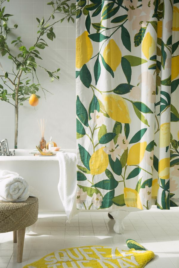Slide View: 1: Allover Fruits Shower Curtain