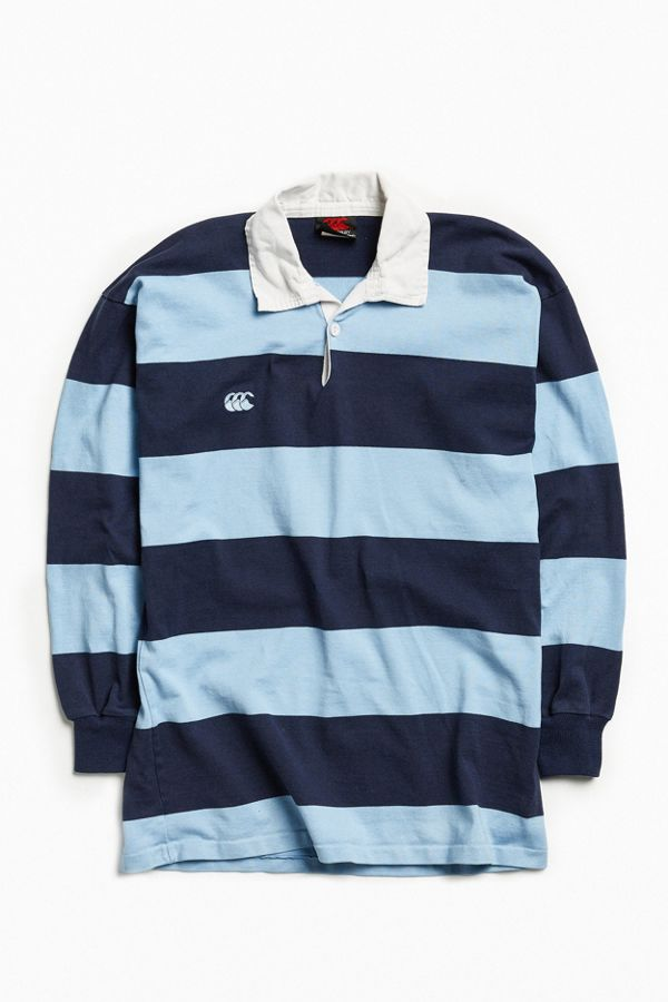 c2676f1bc93 Vintage Canterbury Of New Zealand Blue Stripe Rugby Shirt | Urban ...