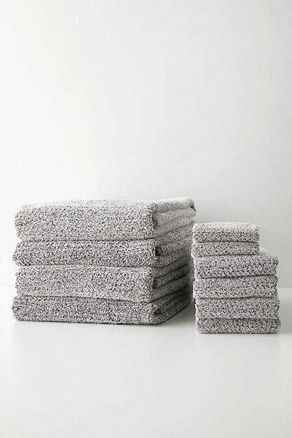 Slide View: 1: Everplush 10-Piece Diamond Jacquard Bath Towel Set