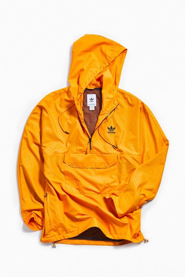 look for cozy fresh fashion styles adidas Pinstripe Half-Zip Windbreaker Jacket