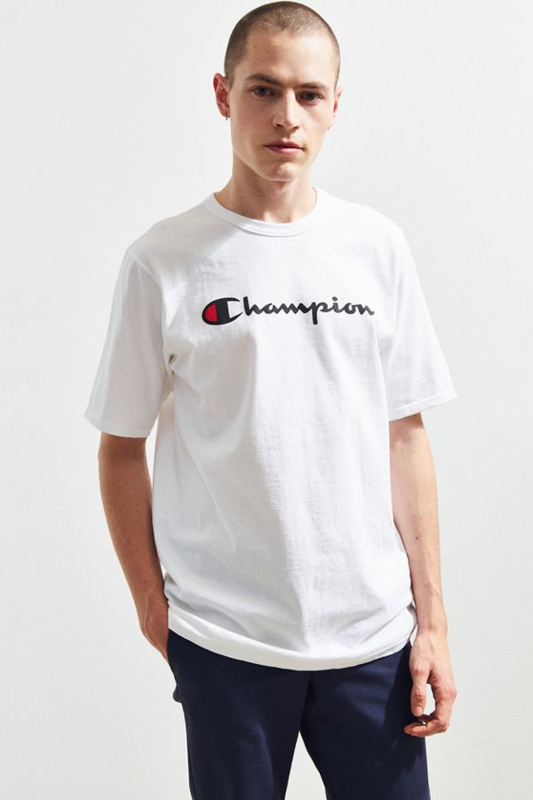 78d7f1b6f04 Champion Script Ink Tee | Urban Outfitters
