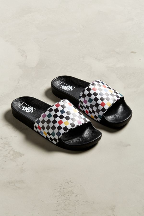 ced12461ac315d Vans Sport Party Checkerboard Slide Sandal