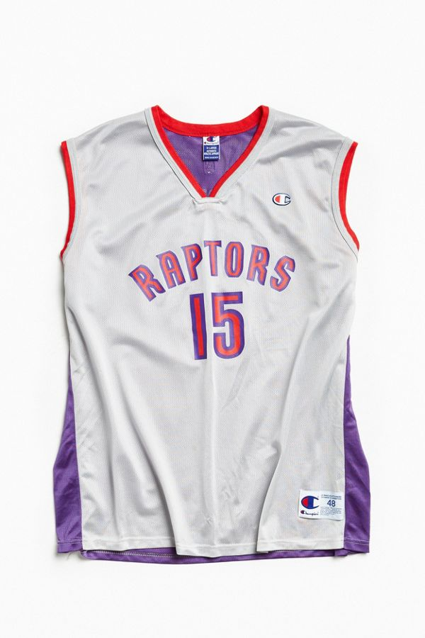 wholesale dealer 5457c 29b86 Vintage Champion Vince Carter Toronto Raptors Basketball Jersey