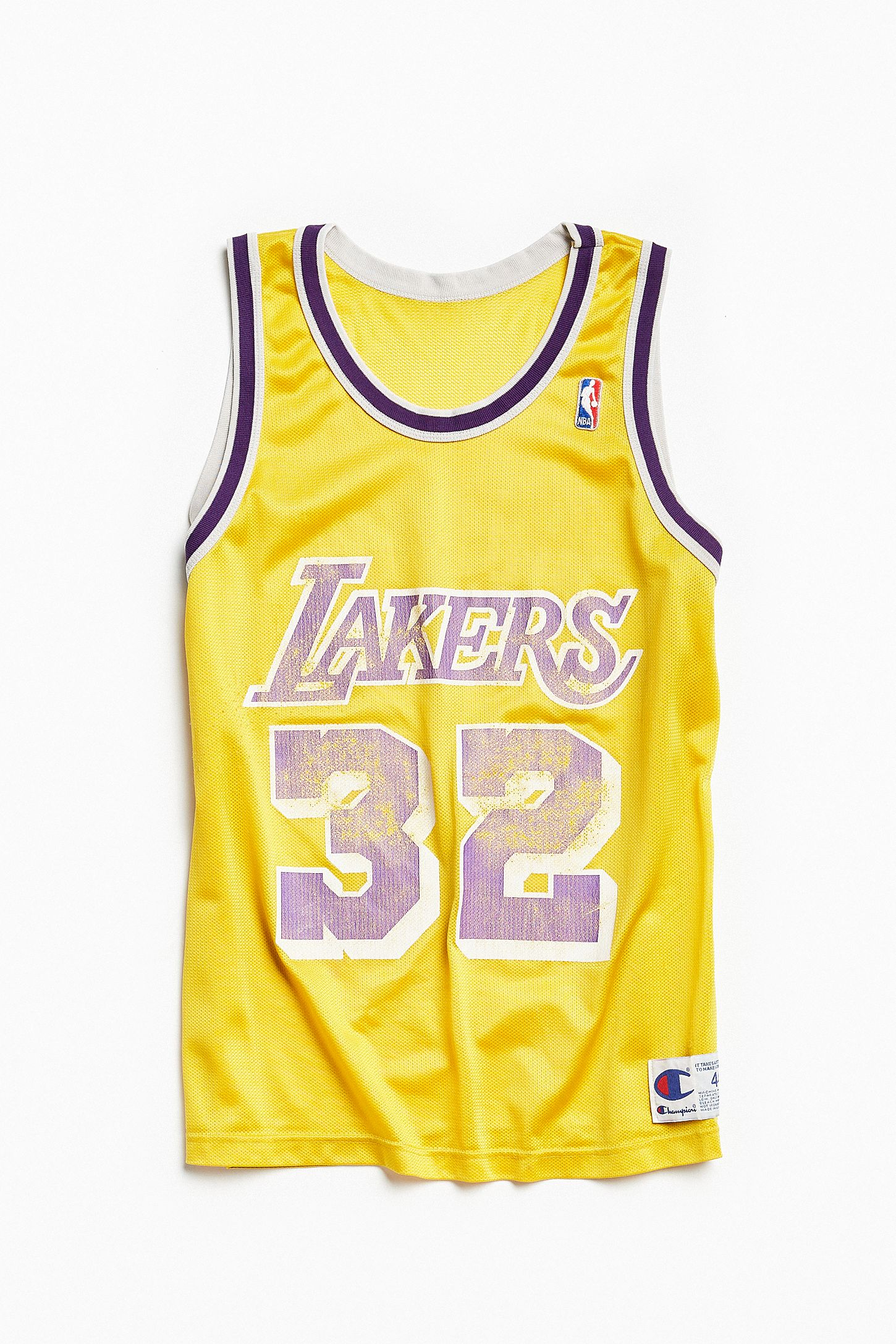 2d6e4f4a1de Vintage Champion Magic Johnson Los Angeles Lakers Basketball Jersey ...