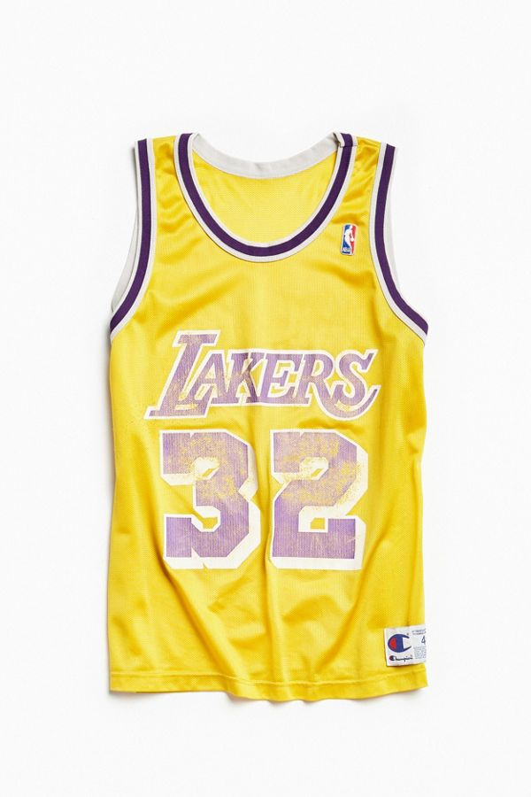 best loved 24b3d f8a25 Vintage Champion Magic Johnson Los Angeles Lakers Basketball Jersey