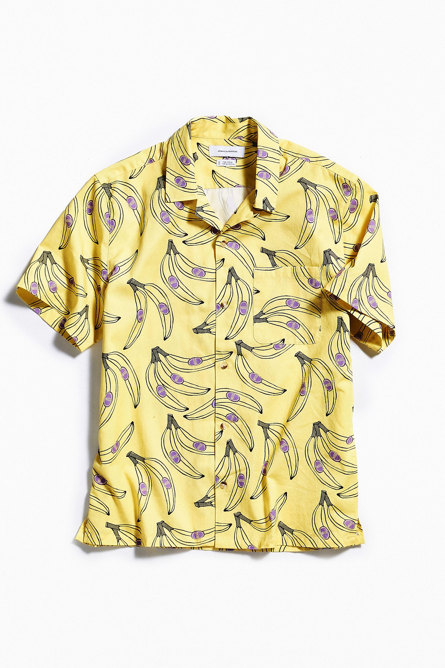 60cf905e407 UO Banana Short Sleeve Button-Down Shirt