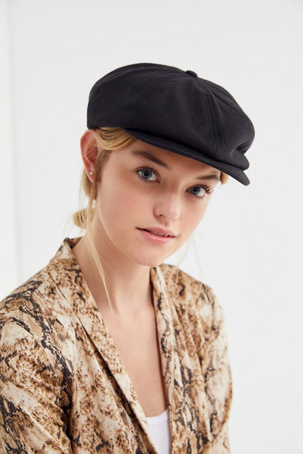 e59e70a0d426 Brixton Brood Linen Snap Cap | Urban Outfitters