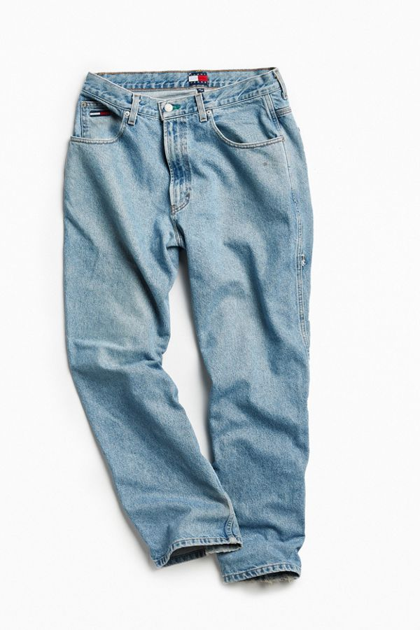 02b4e64e7 Vintage Tommy Hilfiger Light Stonewash Carpenter Baggy Jean | Urban ...