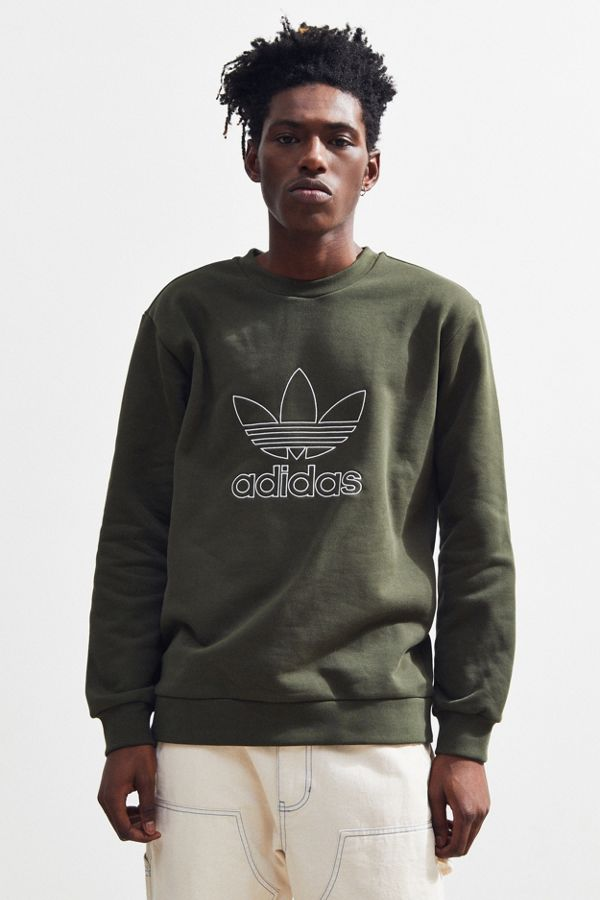 adidas Trefoil Outline Crew Neck Sweatshirt