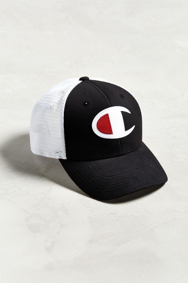 c7aff99a52c28 Champion Twill Mesh Trucker Hat