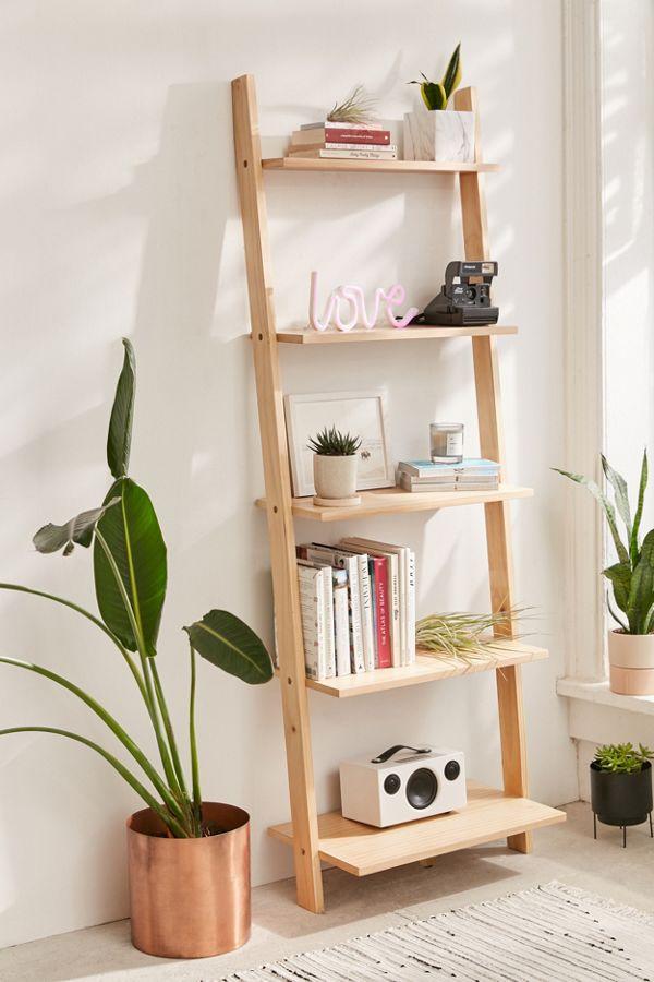 Slide View 1 Leaning Bookshelf
