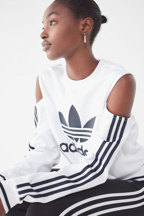3ed8bb614 adidas Cut-Out Crew-Neck Sweatshirt | Urban Outfitters