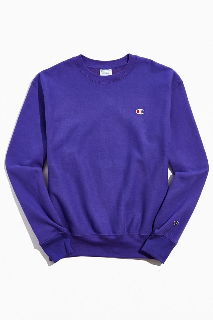 Champion Reverse Weave Fleece Crew Neck Sweatshirt Urban Outfitters