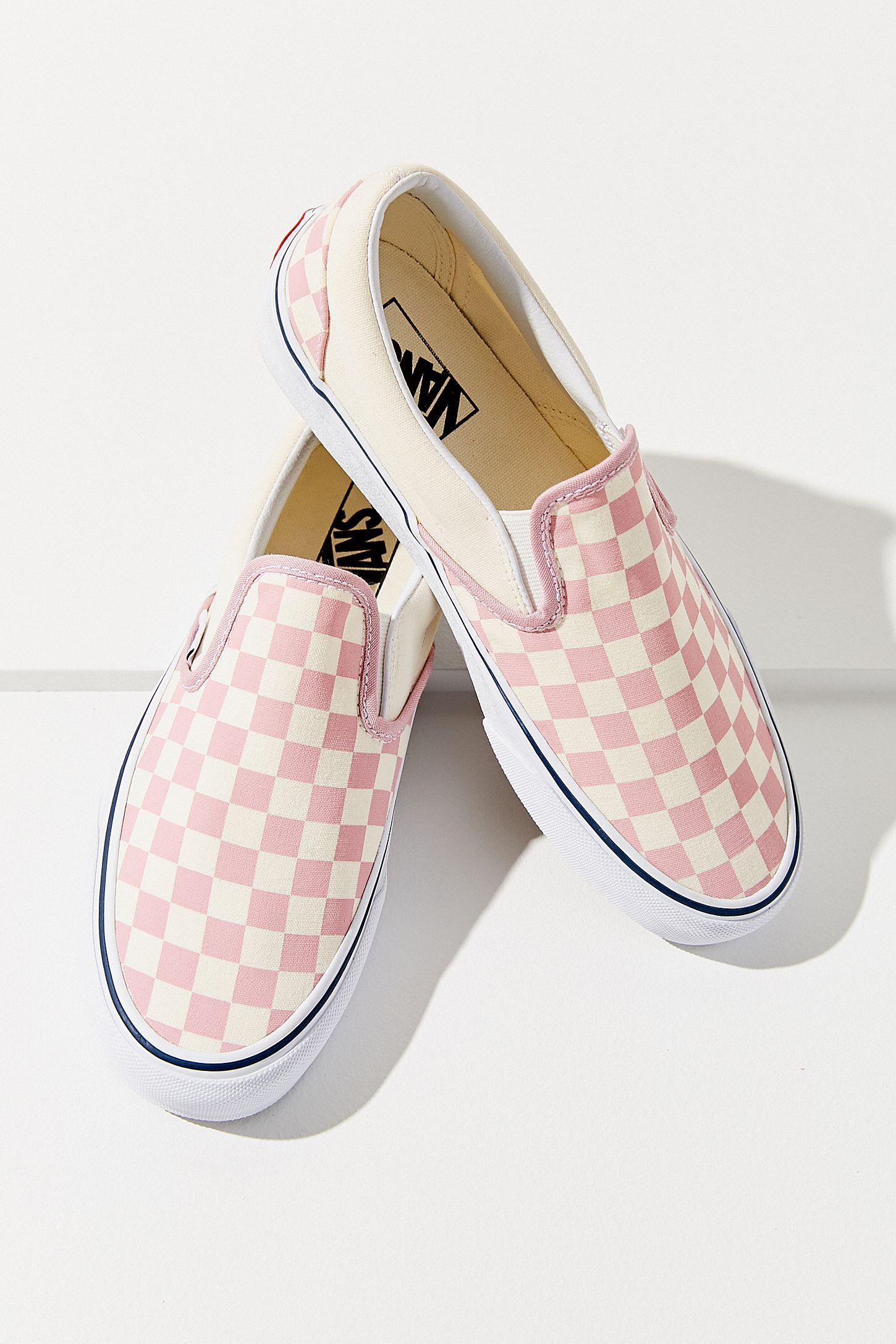 c8672b05e3 Vans Pink Checkerboard Slip-On Sneaker