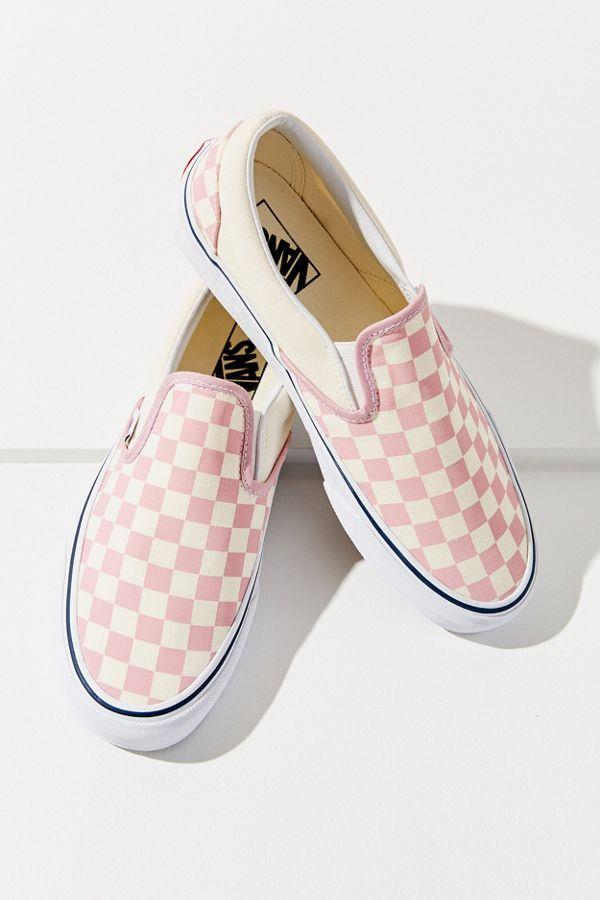 Vans Pink Checkerboard Slip-On Sneaker
