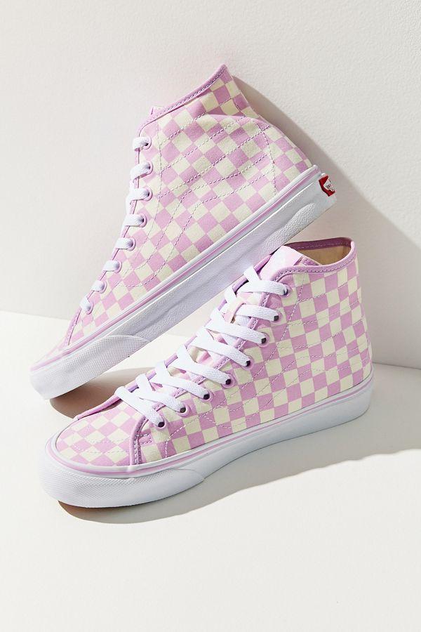 53caf990f0 Vans Sk8-Hi Decon Checkerboard Sneaker