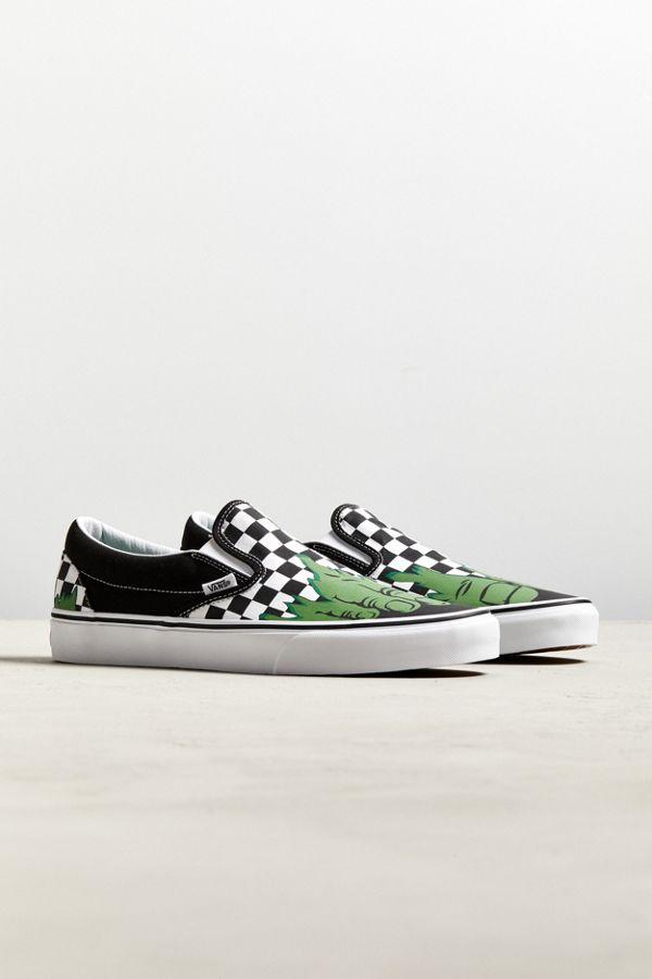 9174ba4f08 Vans X Marvel Hulk Checkerboard Slip-On Sneaker