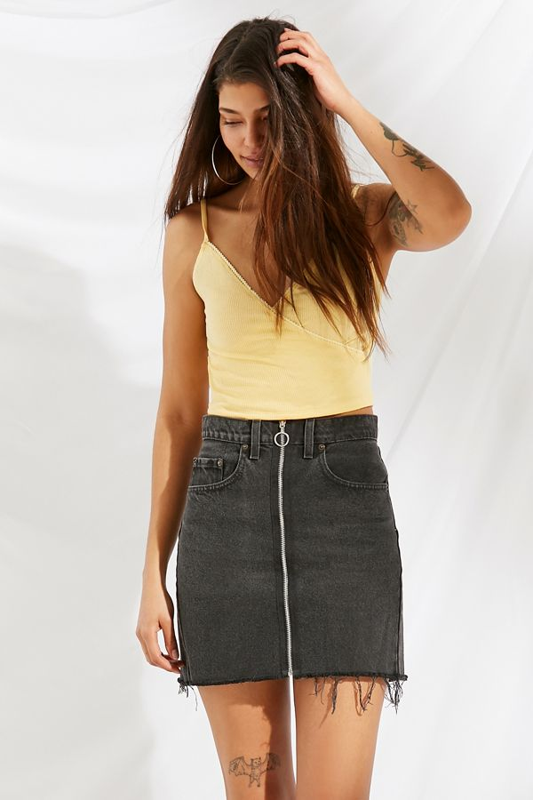 40a16a1181 Urban Renewal Remade O-Ring Levi's Denim Mini Skirt | Urban Outfitters