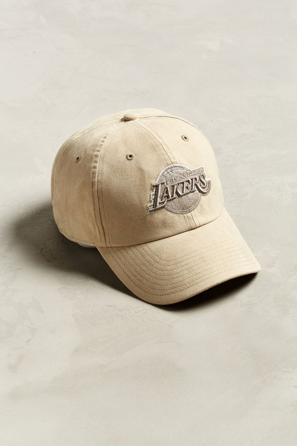 '47 Brand Los Angeles Lakers Clean Faux Suede Baseball Hat
