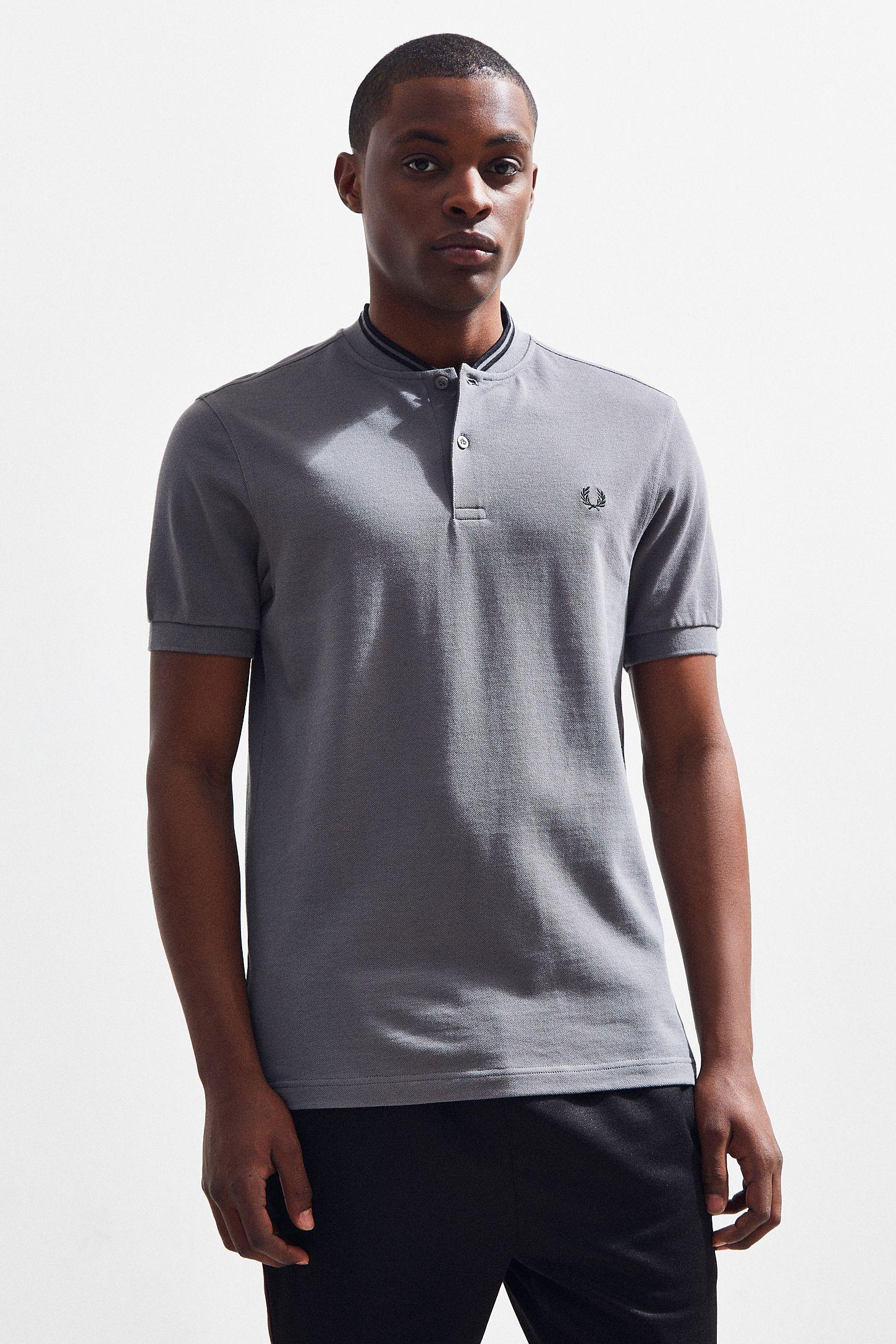 82c7023ce Fred Perry Bomber Collar Pique Polo Shirt