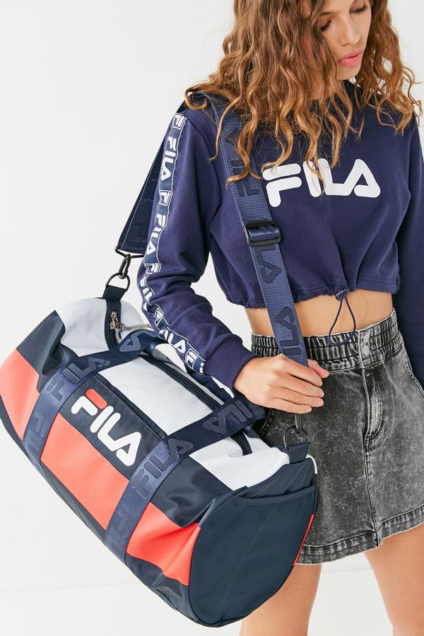3e2d2ee311817a FILA Major Stripe Duffle Bag | Urban Outfitters