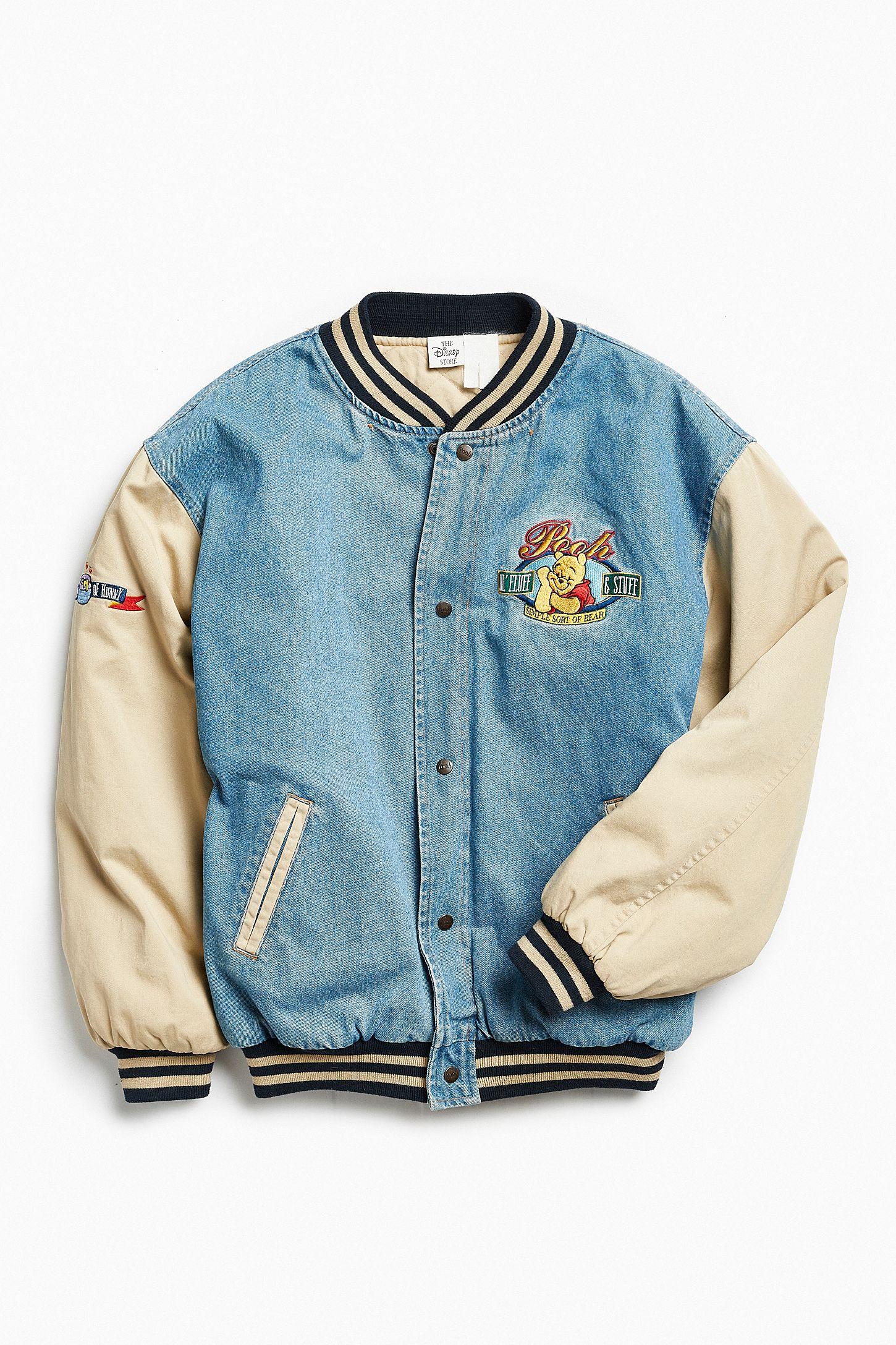 eca3d40a38d4 Vintage Winnie The Pooh Denim Varsity Jacket