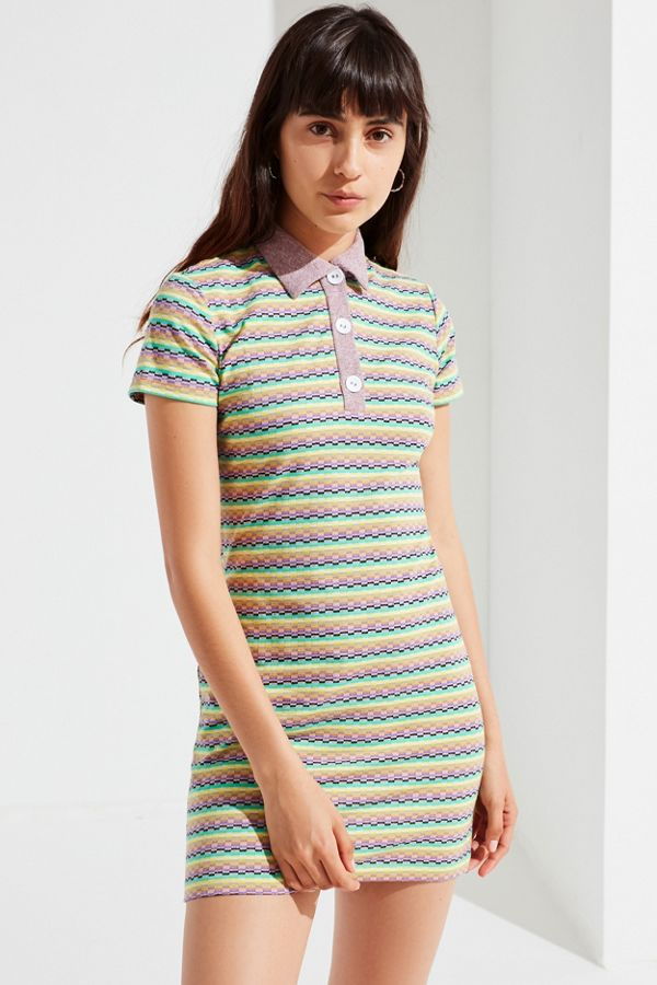 167e471a0a7a UO Knit Polo Shirt Dress | Urban Outfitters