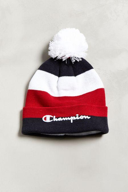 6fe576f6f7c Champion Script Knit Pompom Beanie