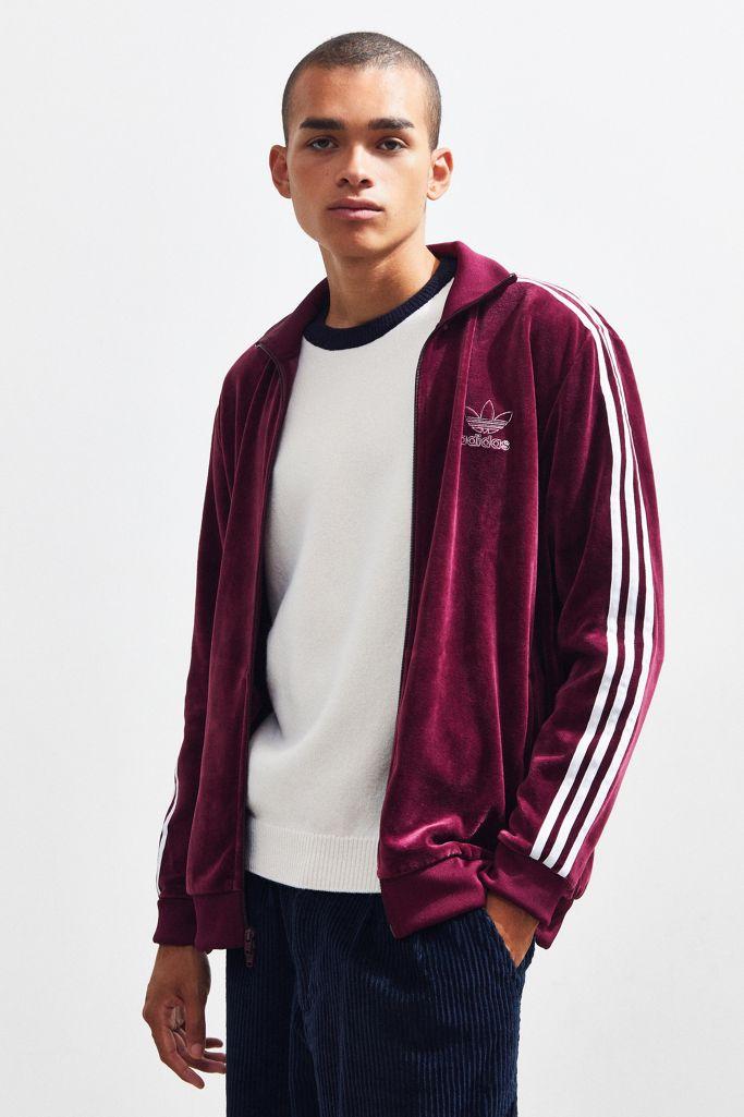 Adidas Velour Track Jacket Urban Outfitters