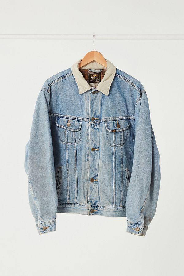 124f0aa629 Vintage Lee Corduroy Collar Denim Jacket   Urban Outfitters