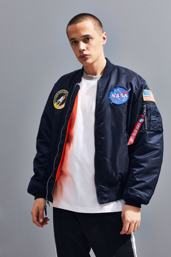 599482193f1b4 Slide View  1  Alpha Industries MA-1 Nasa Slim Fit Bomber Jacket