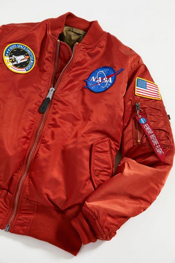 vendita calda online 8e788 7005d Alpha Industries MA-1 NASA Slim Fit Bomber Jacket