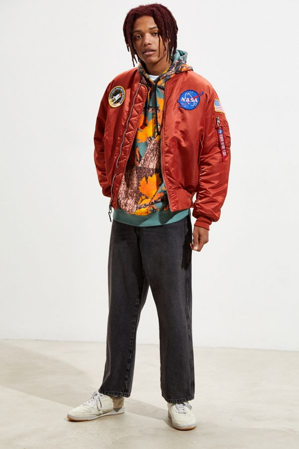 fd86f708a Alpha Industries MA-1 NASA Slim Fit Bomber Jacket