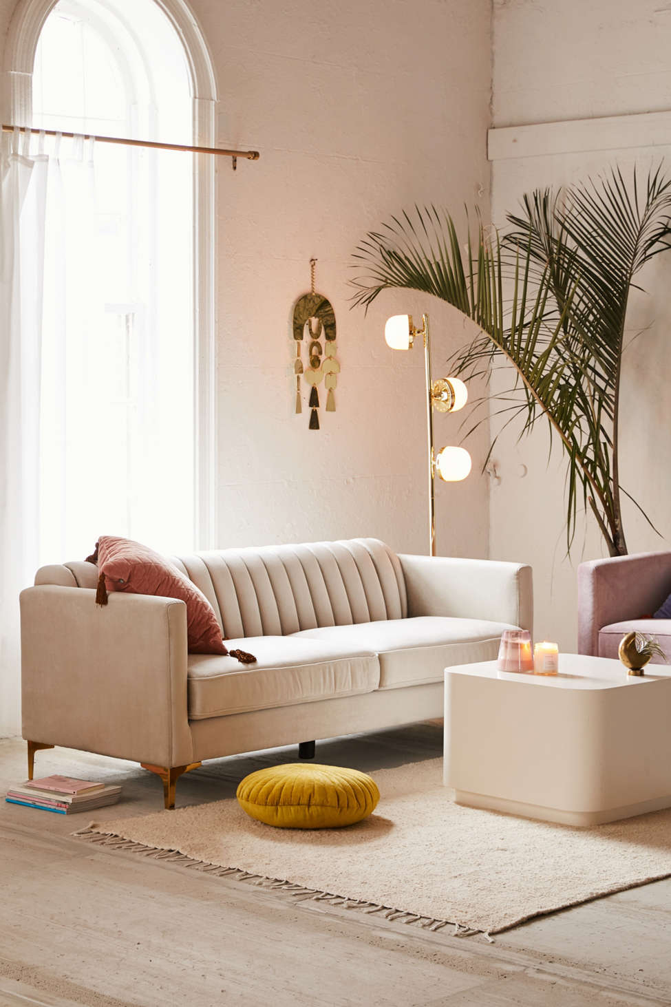 Marcella Velvet Sofa by Urban Outfitters