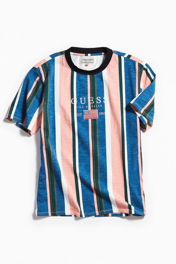 cc642f09 GUESS David Sayer Stripe Tee | Urban Outfitters