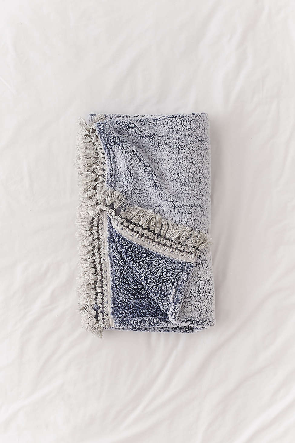 Amped Fleece Fringe Trim Throw Blanket   Urban Outfitters